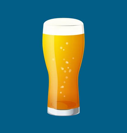 Illustration of glass beer