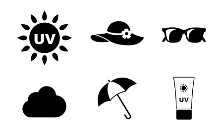 UV Care icon set