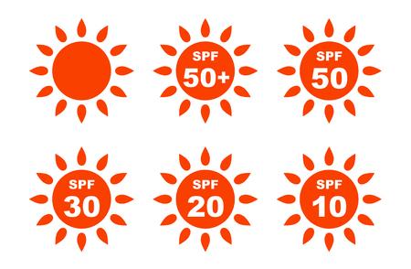 UV Care sun marks set Vetores