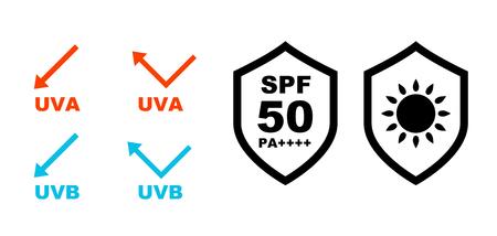 UV Care Shield Icon Set