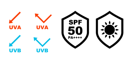 UV Care Shield Icon Set