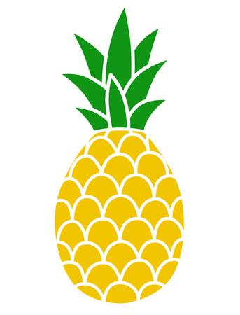 Ananas-Farbsymbol Vektorgrafik