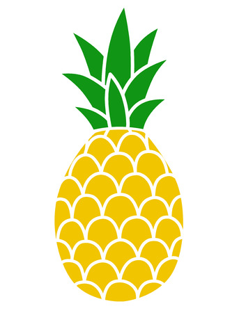 Pineapple color icon Vector Illustration