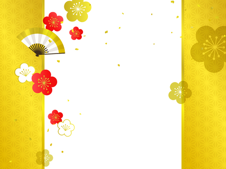 Japanese Pattern background illustration Ilustrace