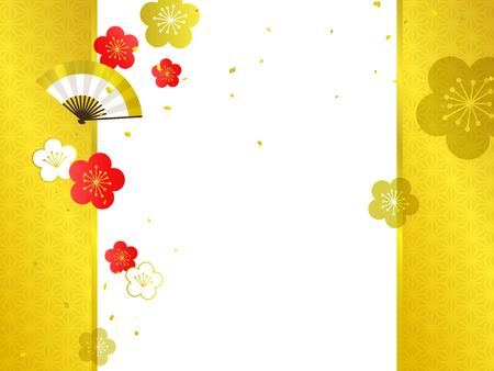Japanese Pattern background illustration Reklamní fotografie - 121945242