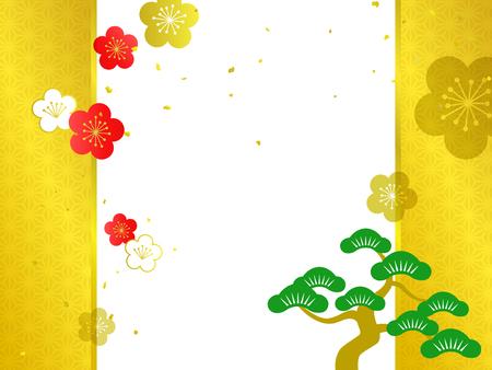Japanese Pattern background illustration Ilustrace