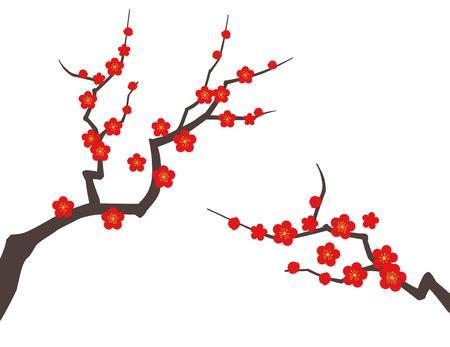 Plum tree background material Banco de Imagens - 122883574