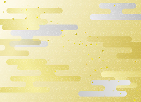 Japanese cloud Pattern background illustration Ilustrace
