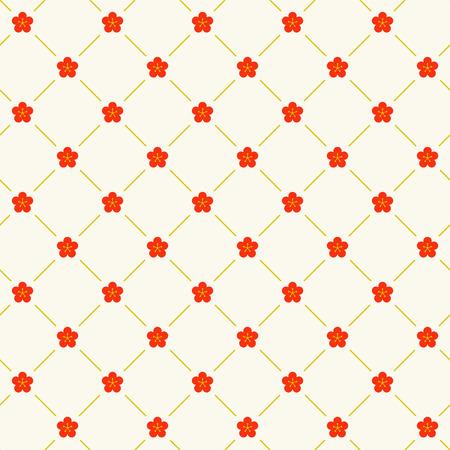 Traditional + Japanese + seamless + pattern +% 28plum% 29 Ilustracja