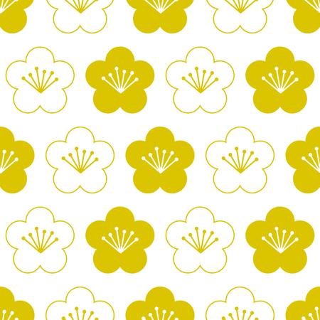 Traditional Japanese seamless pattern Ilustracja