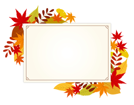 Autumn leaves and message card
