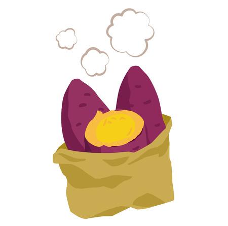 Sweet potato illustration
