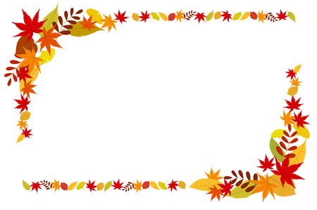 Colorful autumn leaves icon frame