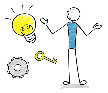 People and business icon set Ilustracja