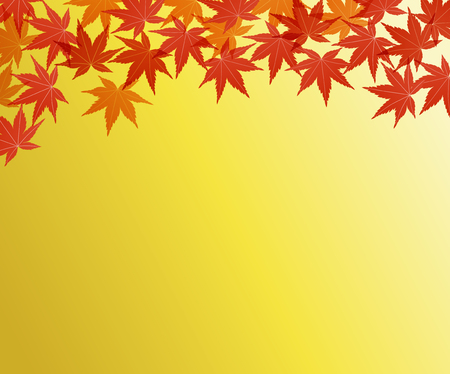 Maple background background illustration material