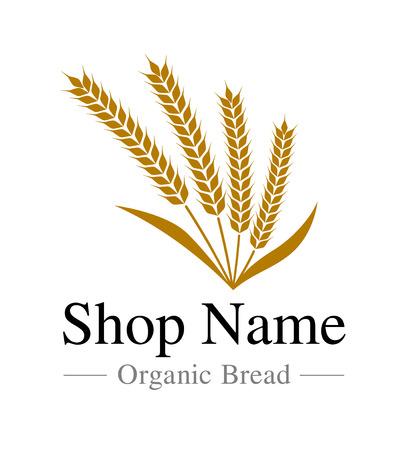 Wheat store logo mark material Stock Illustratie