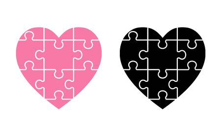 Jigsaw Puzzle Heart Shape material