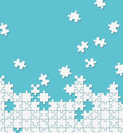Jigsaw puzzle illustration background material
