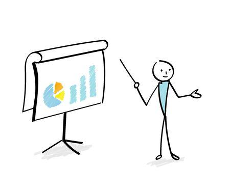 Explain in the chart Business scene Illustration