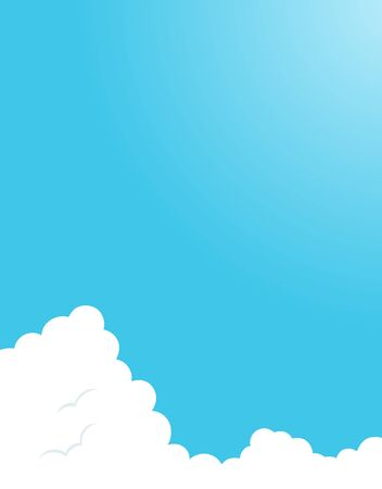 Blue sky with clouds background material