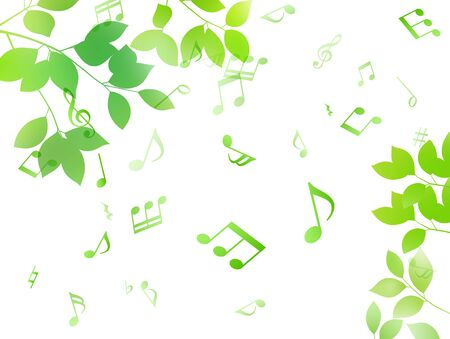 Green leaf and music note sunbeam image