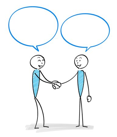 Communication scene with two people -Handshake- Ilustração