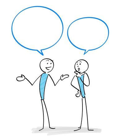 Communication scene with two people Ilustracja