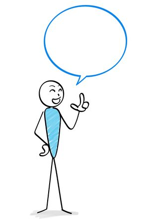 Person who speaks and speech balloon Ilustração