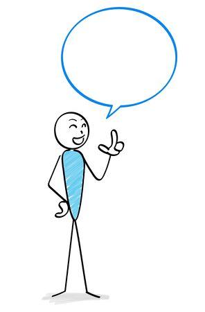 Person who speaks and speech balloon Ilustracja