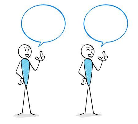 People and speech balloon set