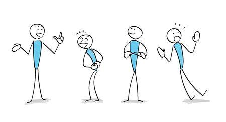 various Gesture communication scene set