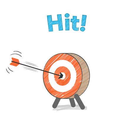 Arrow and target, hit image