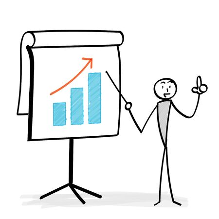 Graph board and person explaining