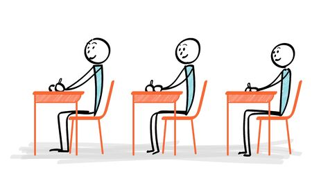 People learning at the desk