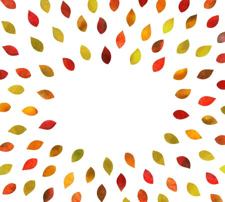 Autumn leaves Background material (watercolor pencil texture)