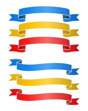 Ribbon frame set (ornament, ornament, band, retro) 向量圖像