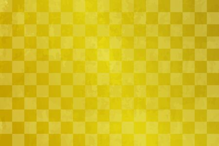 Checkered gold leaf celebration background (Japanese traditional pattern) Illusztráció