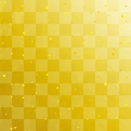 Checkered gold leaf celebration background (Japanese traditional paper texture) Stock fotó