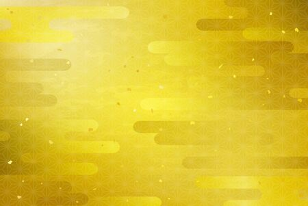 Gold Leaf and Cloud Background (Traditional Pattern)