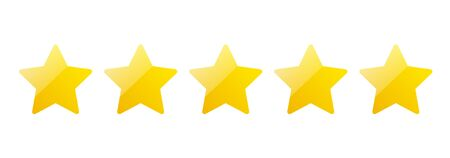 5 stars icon, yellow, Sign, rating