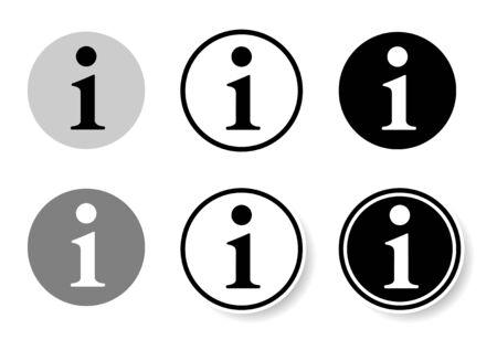 Information icon set, design material Stock Illustratie