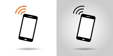 smartphone icon, Internet, electromagnetic wave