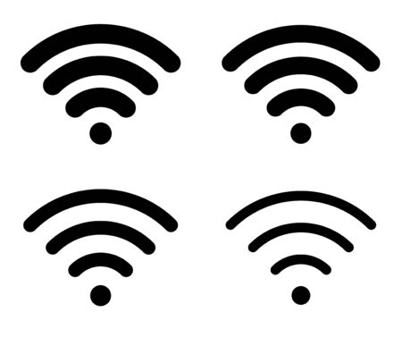Internet, electromagnetic wave icon material