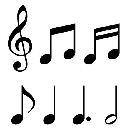 Musical note, sign material set Фото со стока - 133656215