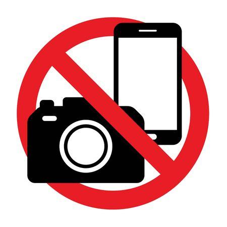 Señal de prohibición de teléfono, llamada, sonido y cámara