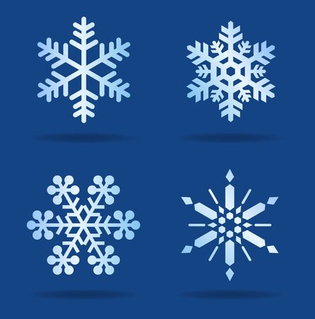 Snowflakes, snow Crystal, icon material set