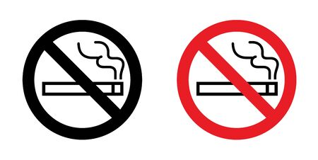 No Smoking Sign, icon, symbol Ilustrace