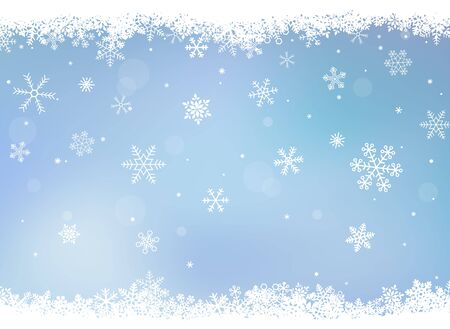 Accumulated Snow Crystal, Snowflake, Background Frame
