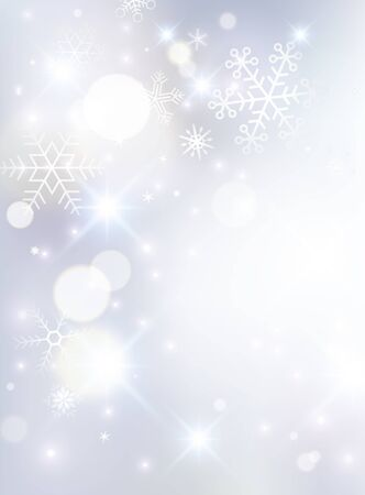 Light and Snow Crystal, Snowflake, Background, Shine