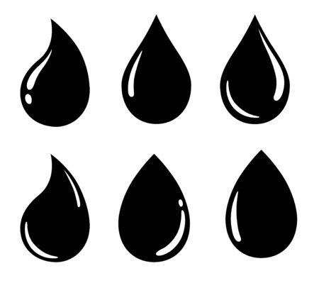 Icono de gota de agua, signo, material